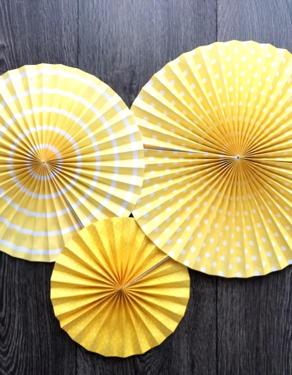 Cukrowy Butik_Rozety dekoracyjne żółte