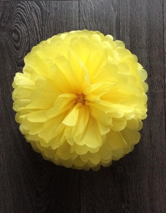 Cukrowy Butik_Papierowy pompon żółty