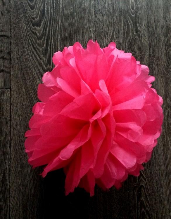 Cukrowy Butik_Papierowy pompon różowy